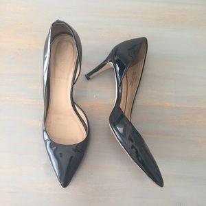 J. Crew Valentina  Black D'orsay Heel Size 8